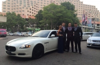 Yr12 School Formal with a Maserati Quattroporte in Sydney