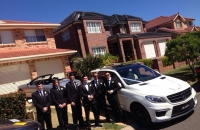 Our Mercedes ML63 AMG with Jack and his groomsmen