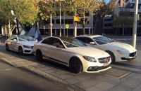 Mercedes C63 AMG Wedding Car Hire Sydney Astra Wedding Cars